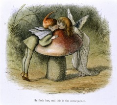 An_elf_and_a_fairy_kissing_-_In_Fairy_Land_(1870)_-_BL
